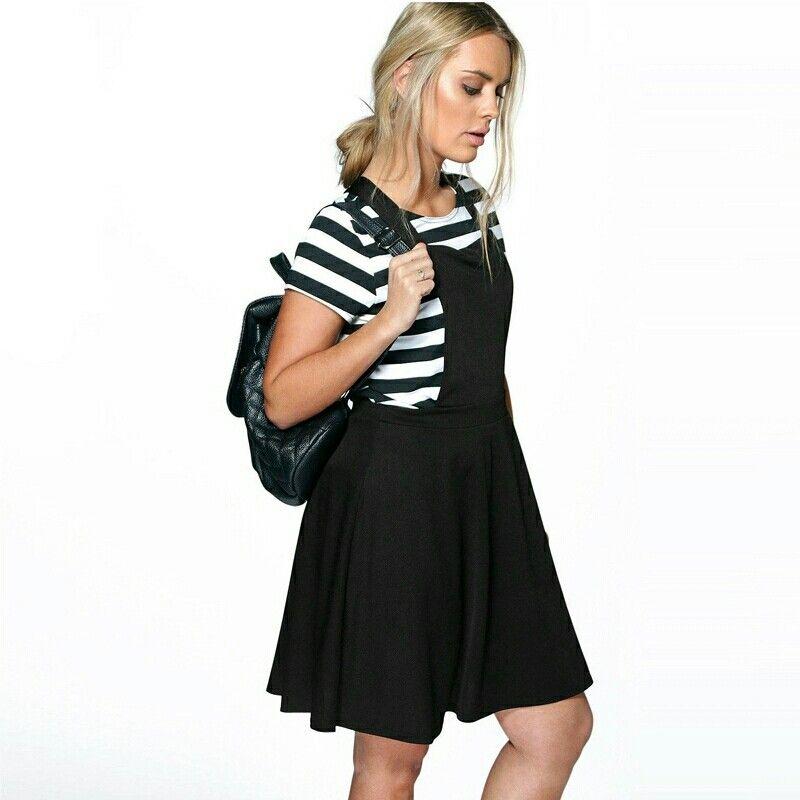 Fashion Cute Juniors High School Suspender Overall Dresses High