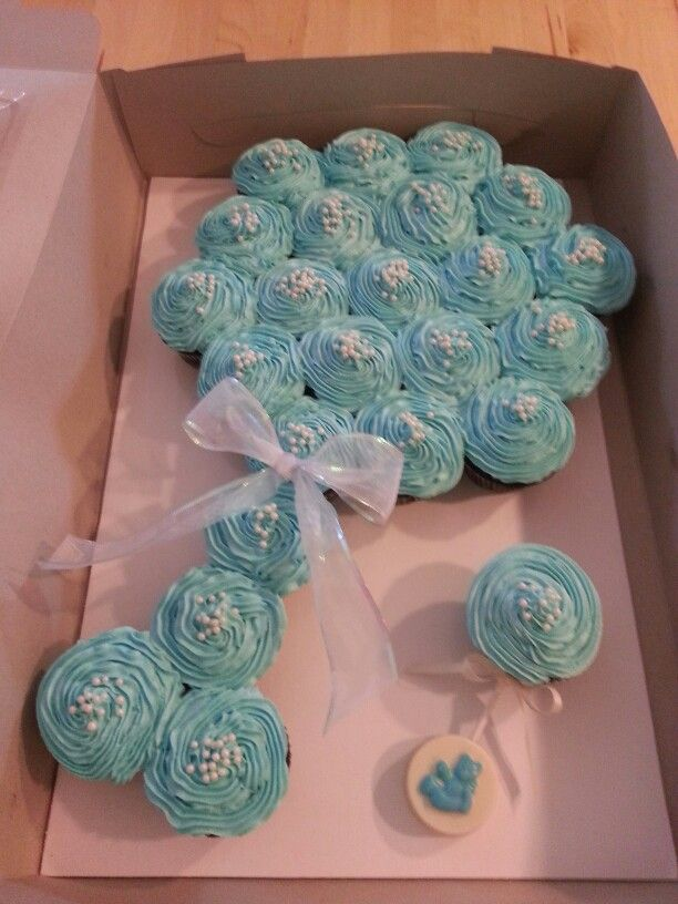 Baby Rattle Cupcake Cake Baby Shower Cupcake Cake Baby Shower