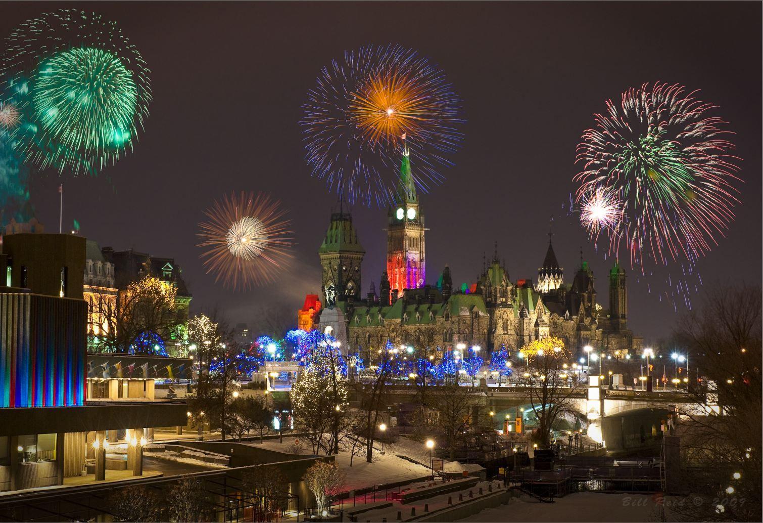 Happy New Year Bonne Année Ottawa Canada New year
