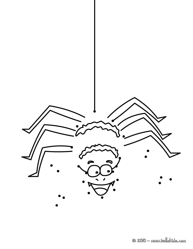 Halloween Spider Dot To Dot Game Dots Game Halloween Spider