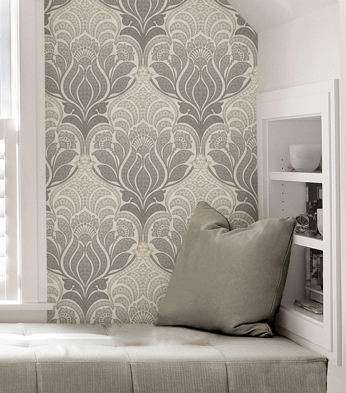 Bathroom Wallpaper Accent Wall Self Stick: WallPops NuWallpaper Charisma Peel & Stick Wallpaper