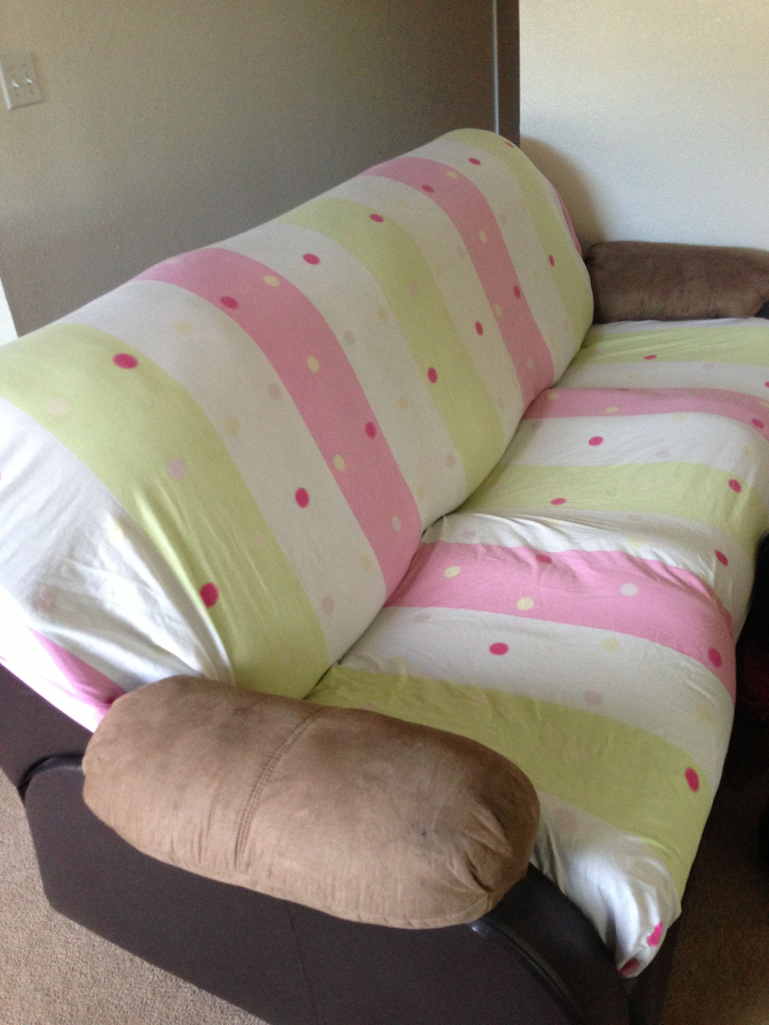 Fitted sheet instant sofa cover Life Hacks Pinterest