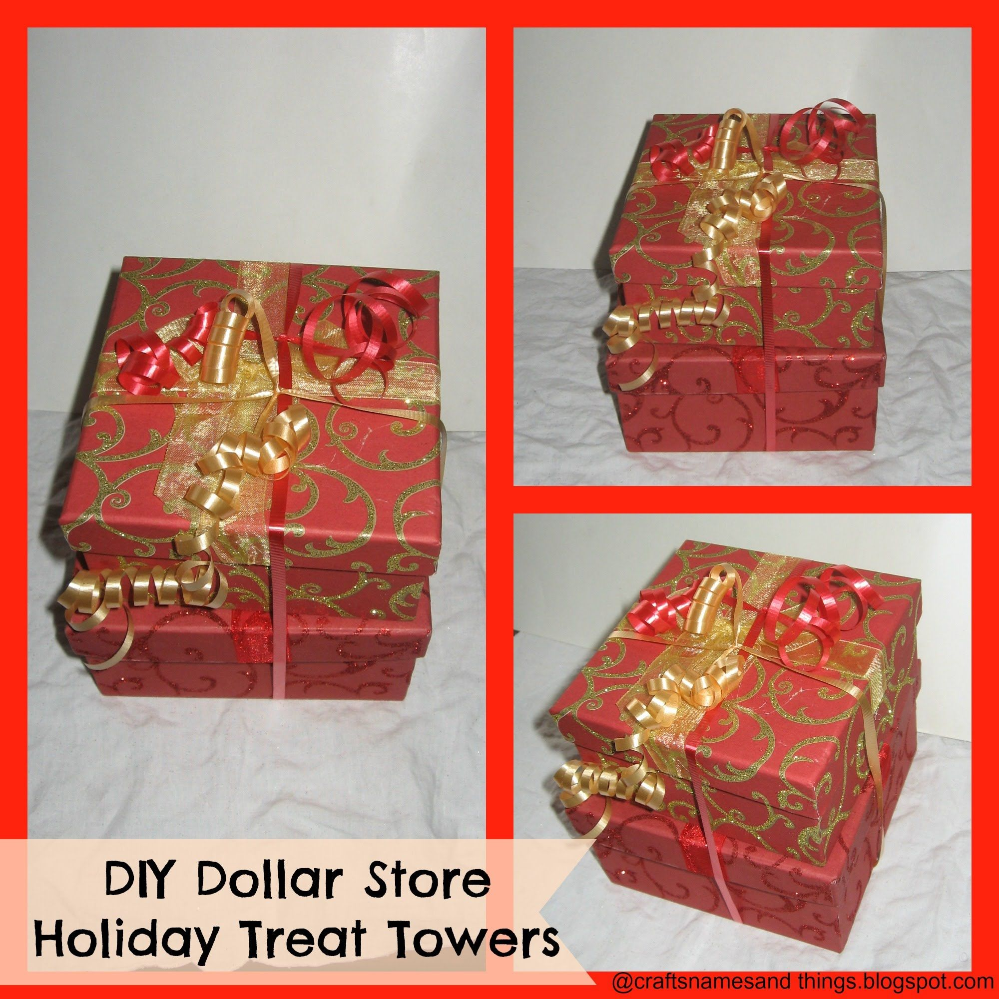 How to make Holiday Gourmet Treat Gift Towers / Tutorial/ Dollar ...