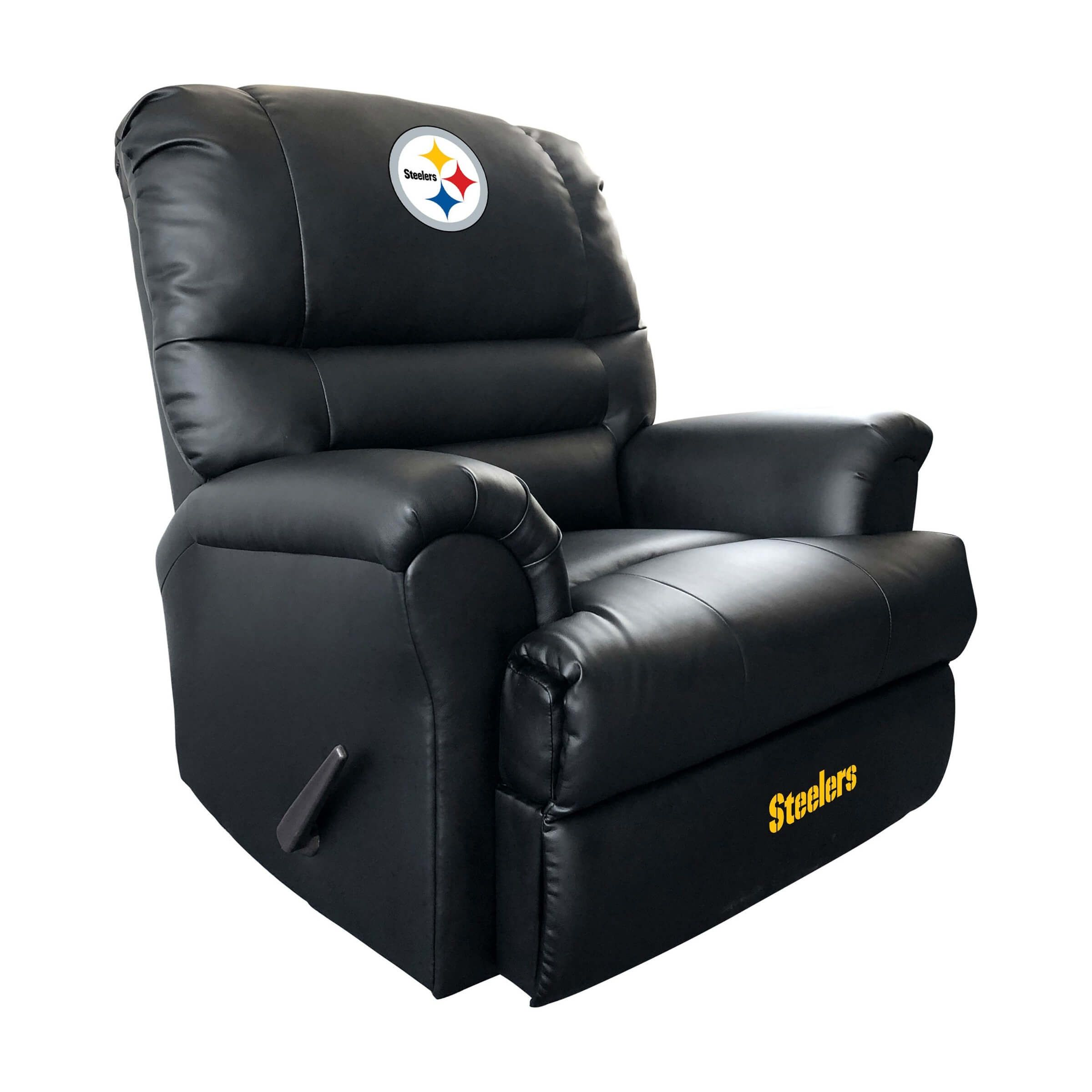 Pittsburgh Steelers Sports Recliner Leather Recliner Rocker Recliners Recliner With Ottoman