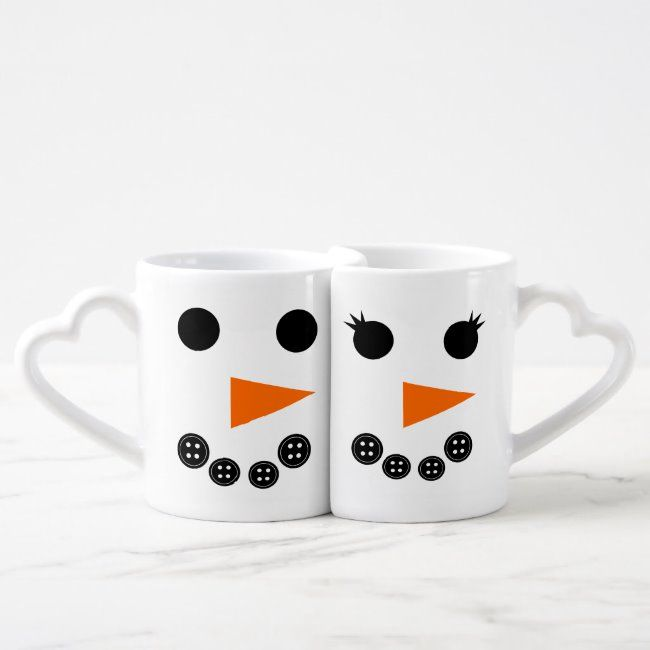 Him and Her Snowman Christmas Coffee Mug Set | Zazzle.com