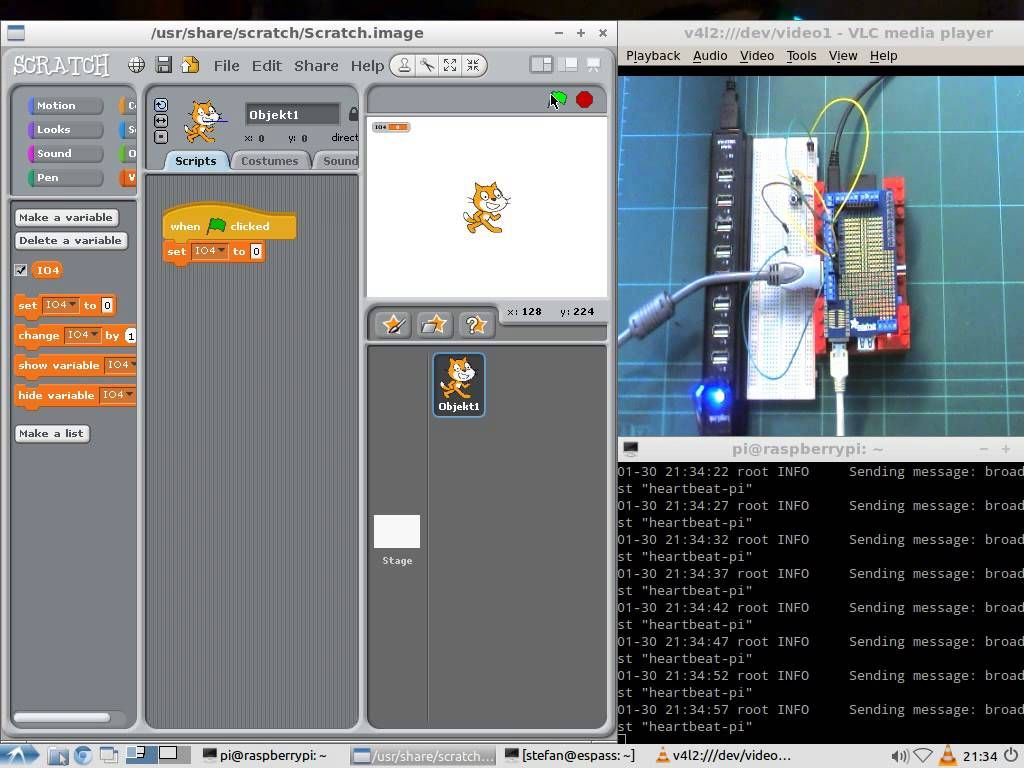 Driving Raspberry Pi GPIOs from Scratch from Stefan Wendler.