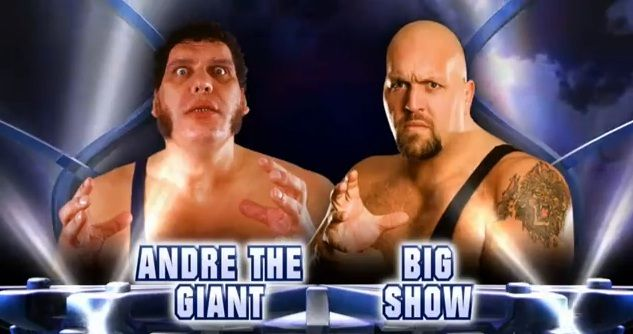 Andre The Giant Vs Big Show Andre The Giant Big Show Wwe
