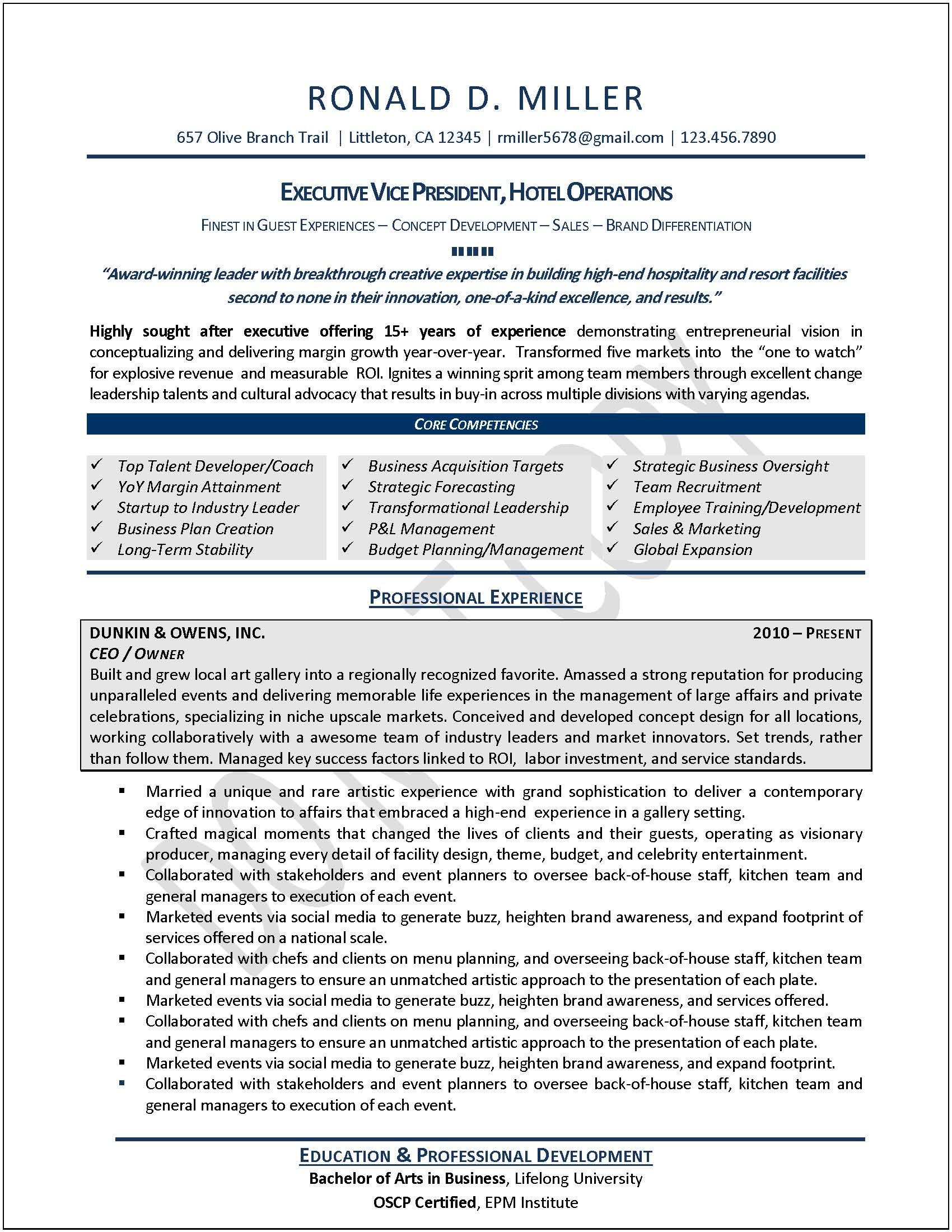 Resume Templates Executive 7 Templates Example Templates Example Executive Resume Template Executive Resume Free Resume Builder
