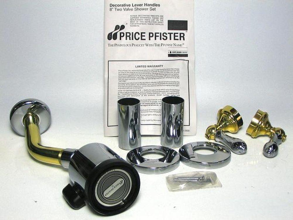 P Pfister 07 9cmb Brass Chrome Shower Faucet Polished Chrome