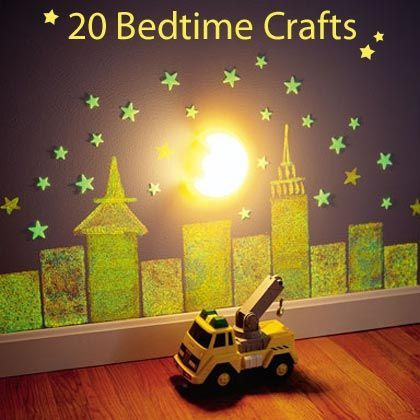 Need some new ideas for your going to bed routine? 20 Soothing Bedtime Crafts.