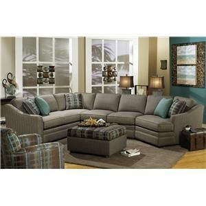 F9 Custom Collection Customizable 3 Piece Sectional With Laf Cuddler By Craftmaster Wolf Furniture Sofa Sect Sectional Sofa Furniture Craftmaster Furniture