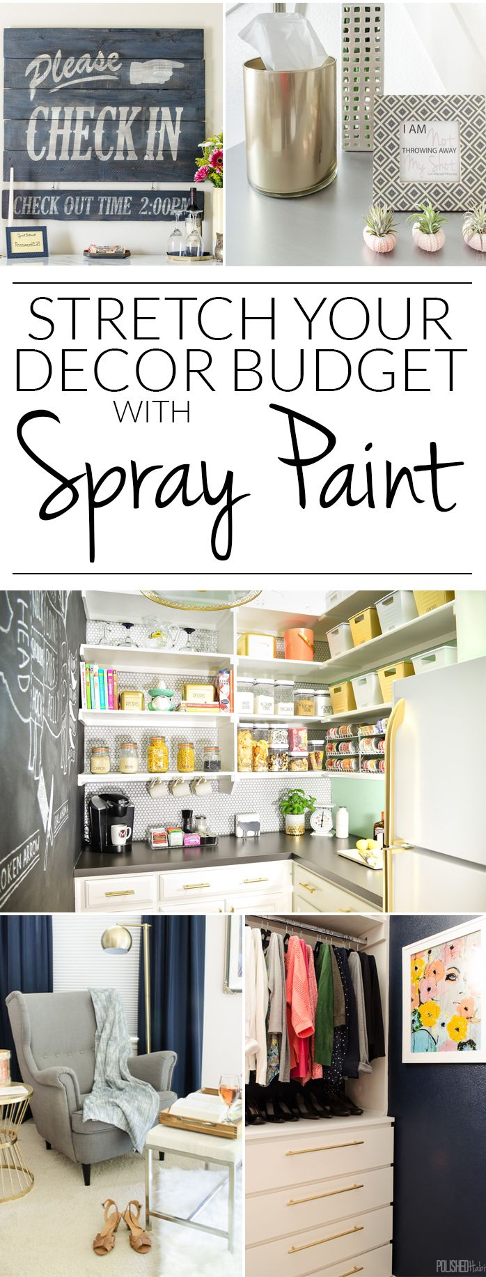 12 Ways to Stretch Your Decor Budget with Spray Paint | Me gustas ...