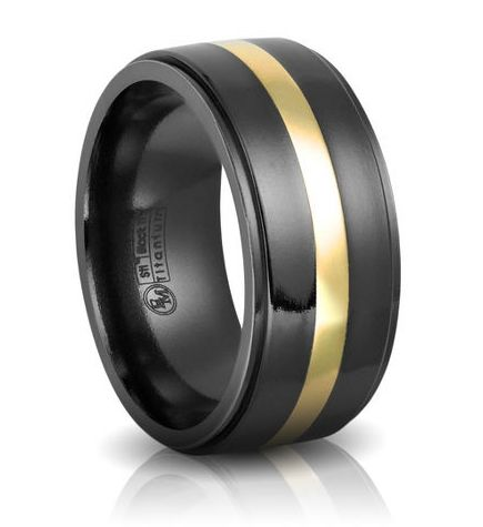Black Titanium Wedding Bands By Edward Mirell General Valentine Black Gold Wedding Black Titanium Wedding Bands Titanium Wedding Rings