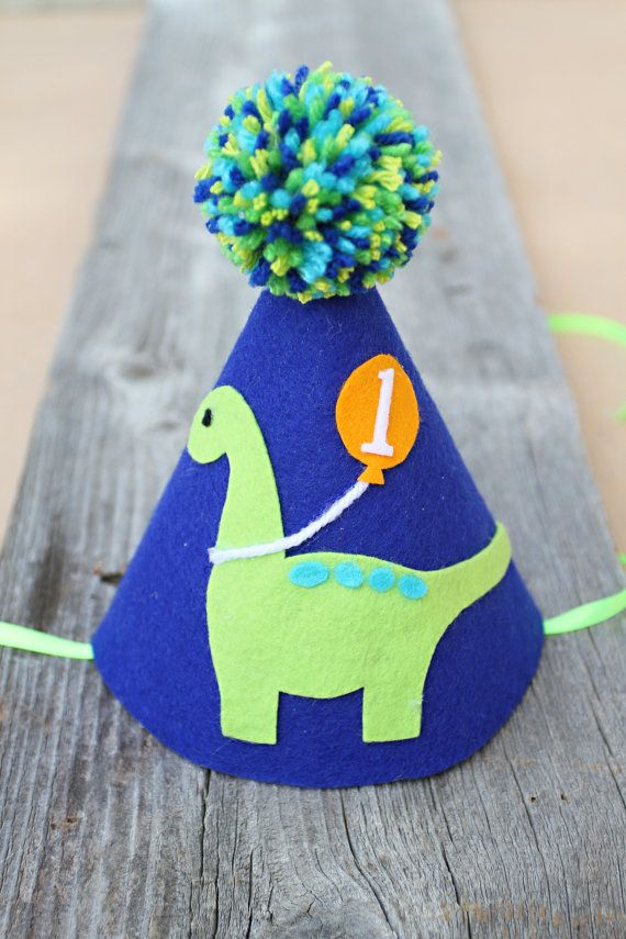 Boys Dinosaur Party Hat And Banner Dinosaur 1st Birthday Hat Etsy 1st Birthday Hats Birthday Hat Dinosaur Party Hats