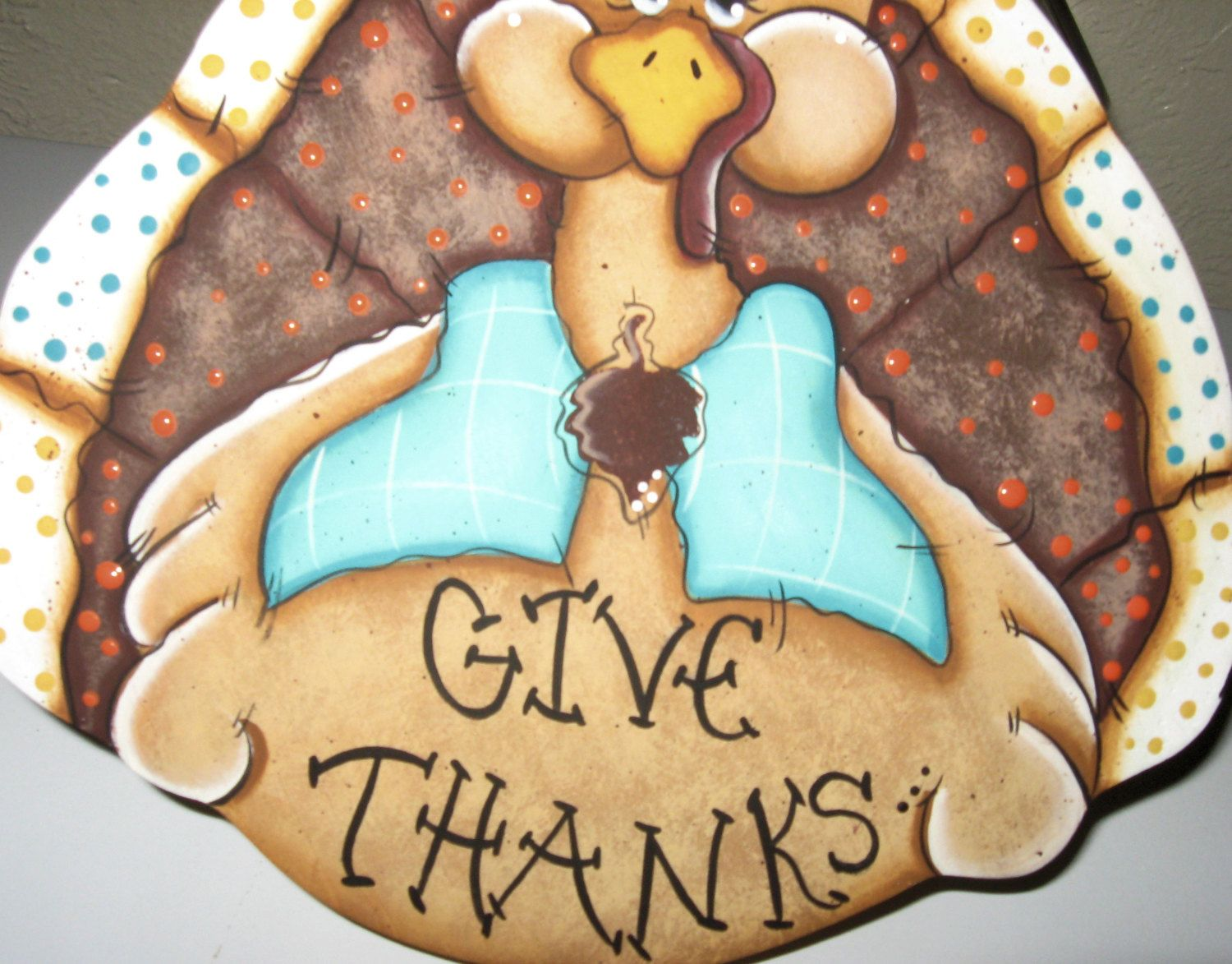 Thanksgiving turkey decor - Turkey Decor Turkey Cookie Lids Thanksgiving Decor Painted Turkey Decor Wood Turkeys