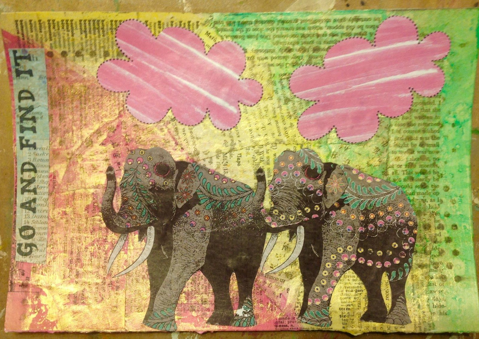 Mixed-Media Backgrounds No. 3 by Jan - Emporium Deliveries February 2016 - The Art Journal Emporium