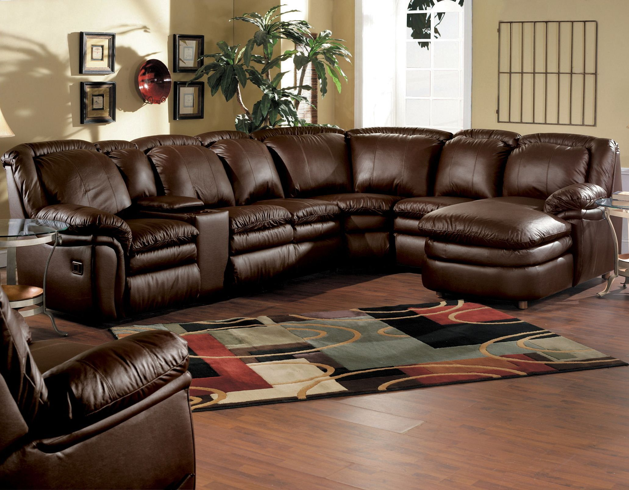 Ultimate Comfort Reclining Leather Stallion Sectional With A Chaise By Lane Home Furnishings Ava Furniture Hudson Furniture Reclining Sectional With Chaise