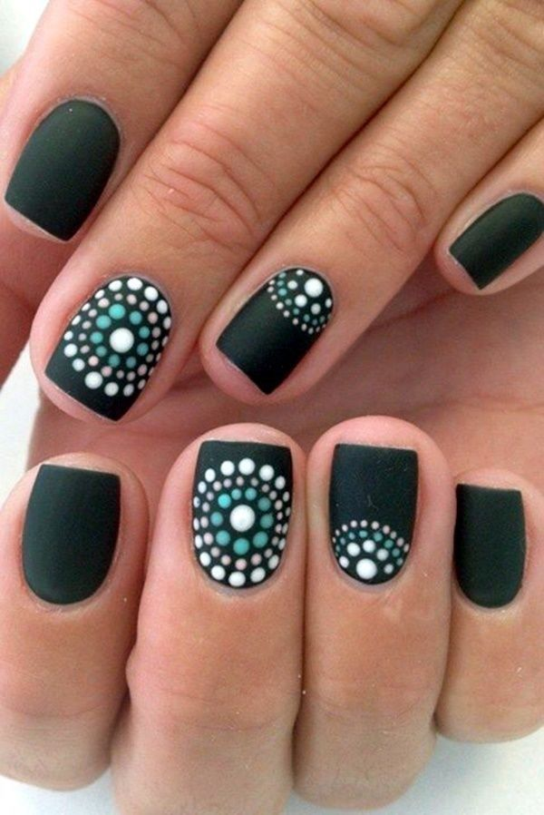 pretty attach art designs for women 2017 These manicures aboriginal ...