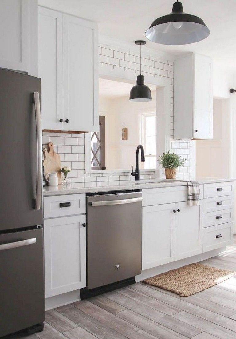 70 Admirable White Kitchen Cabinet Design Ideas Kitchendesign Kitchenremodel Kitchendecor Home Kitchens Kitchen Cabinet Design White Kitchen Design