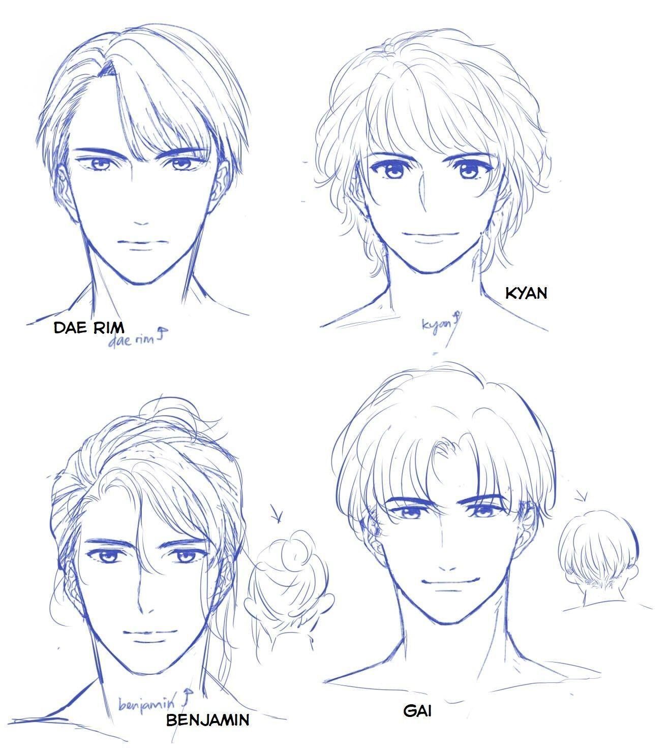 Tumblr Drawings Love In 2020 Anime Drawings Tutorials Anime Drawings Boy Boy Hair Drawing