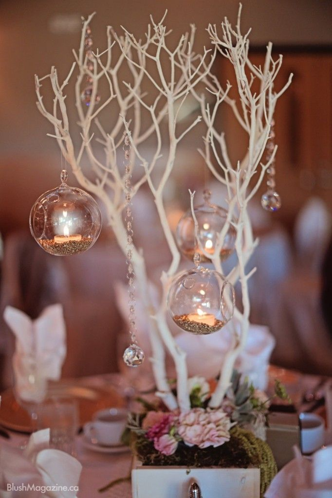 Kathryn Mareks Whimsical Vintage Wedding Manzanita Centrepiece Decor