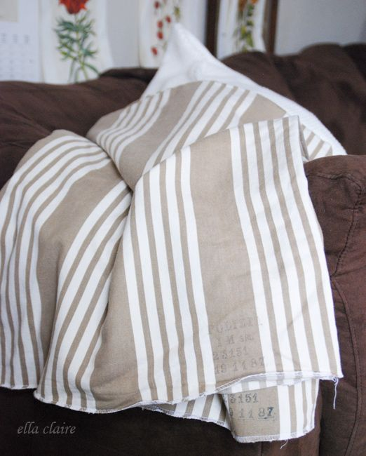 {Ella Claire}: vintage Italian military pillow cases
