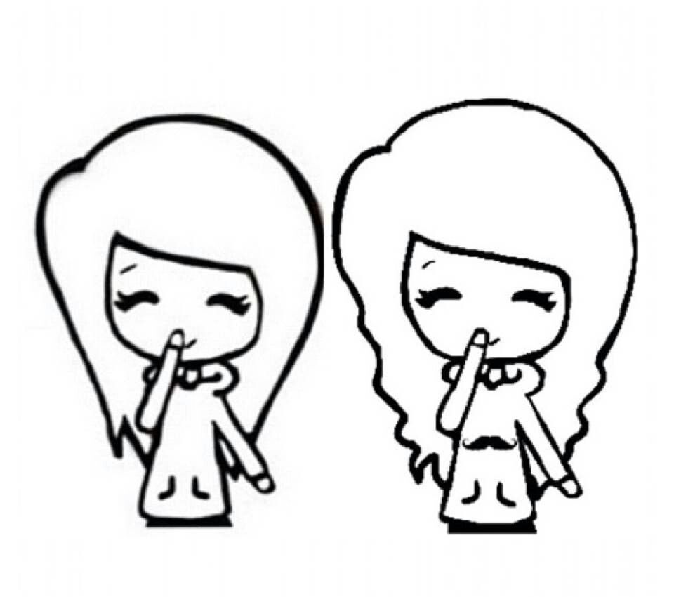 Bff Chibi  Chibi Templates    Chibi Drawings And