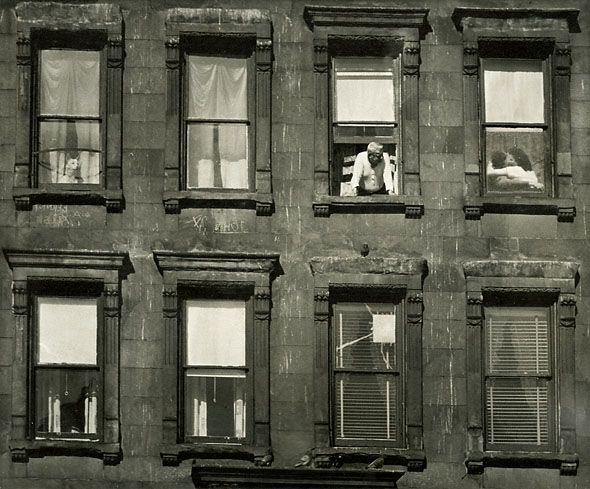 Apartment Windows, 1950s. Unknown Photographer