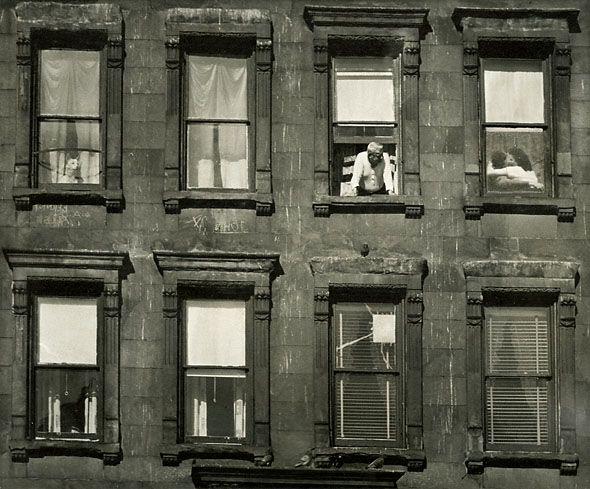 Apartment Windows, 1950s. Unknown Photographer