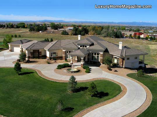 Grand Ranch Style Country Estate Luxury Homes House Architecture Design Landscaping Driveway Ranch House Exterior Luxury Ranch Luxury House Designs