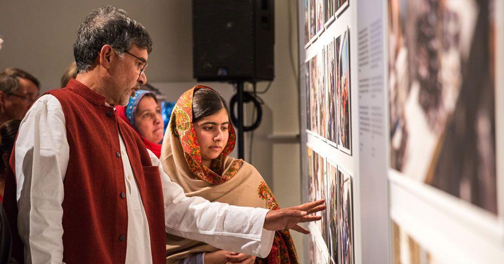 Malala and Kailash Nobel Peace Center