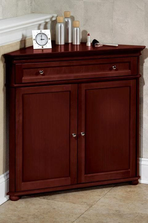 Hampton Bay 32W Corner Cabinet with Two Wood Doors Classic Wood