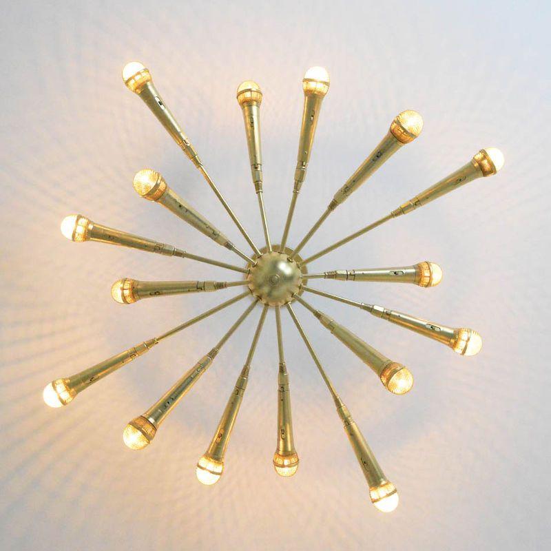 The Microphone Chandelier Diy Electrical Lighting Repurposing Upcycling Sputnik Made