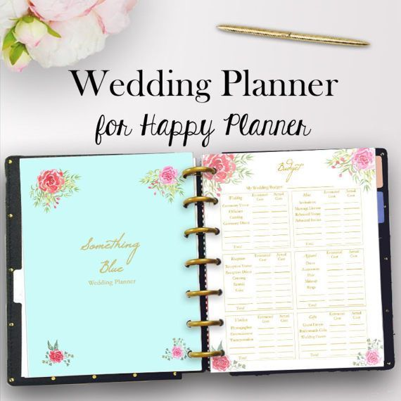 photo regarding Wedding Planner Book Printable named Joyful Planner Marriage ceremony Inserts, Marriage Planner Printable