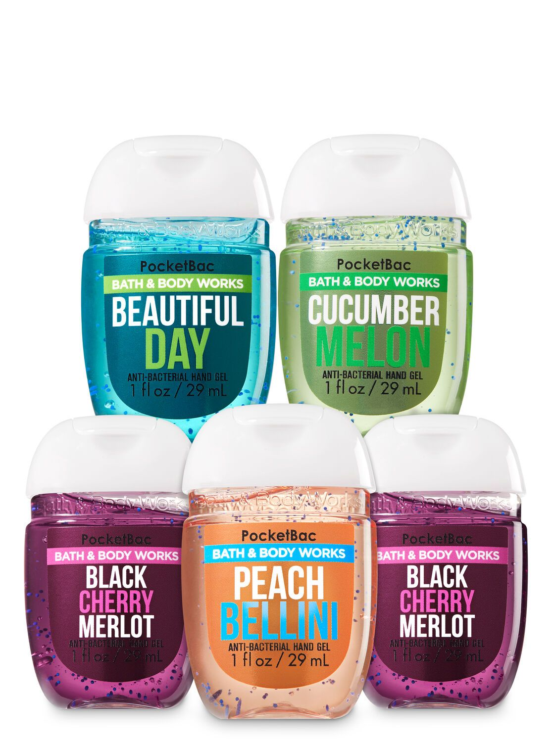 Bath Body Works Fruity Fresh Pocketbac Hand Sanitizers 5 Pack