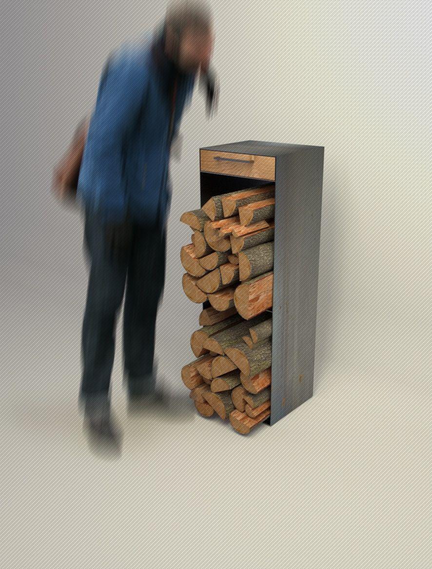 Rohstahl Kaminholzaufbewahrung Aus Stahl Kamin Holz Aufbewahrung Holzaufbewahrung Holz Stahl