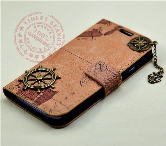 vintage style world map samsung galaxy s3 case leather. Black Bedroom Furniture Sets. Home Design Ideas