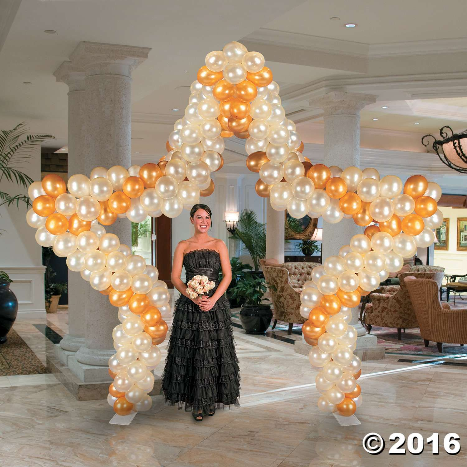 Balloon frame star arch prom balloons hollywood party