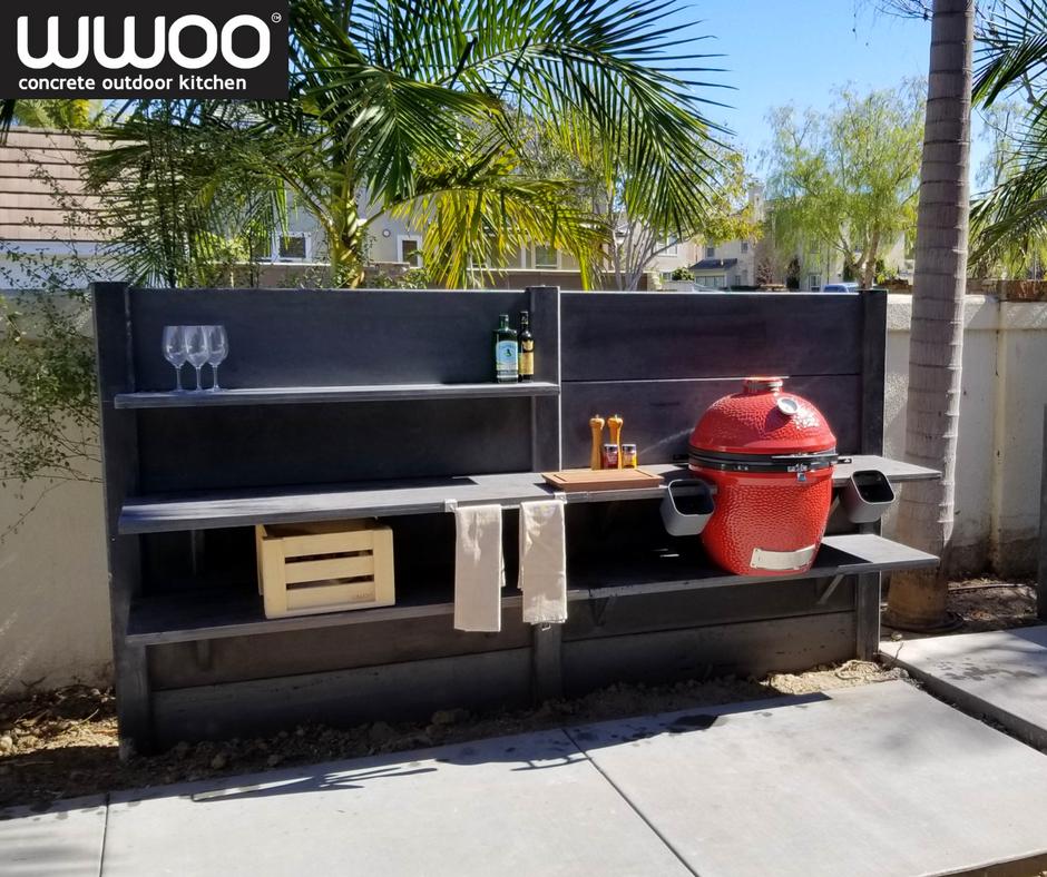 Backyard Inspo For California Home Wwoo California Concrete Outdoor Kitchen Project Location San Diego Ca Outdoor Kitchen Outdoor Concrete Outdoor Kitchen