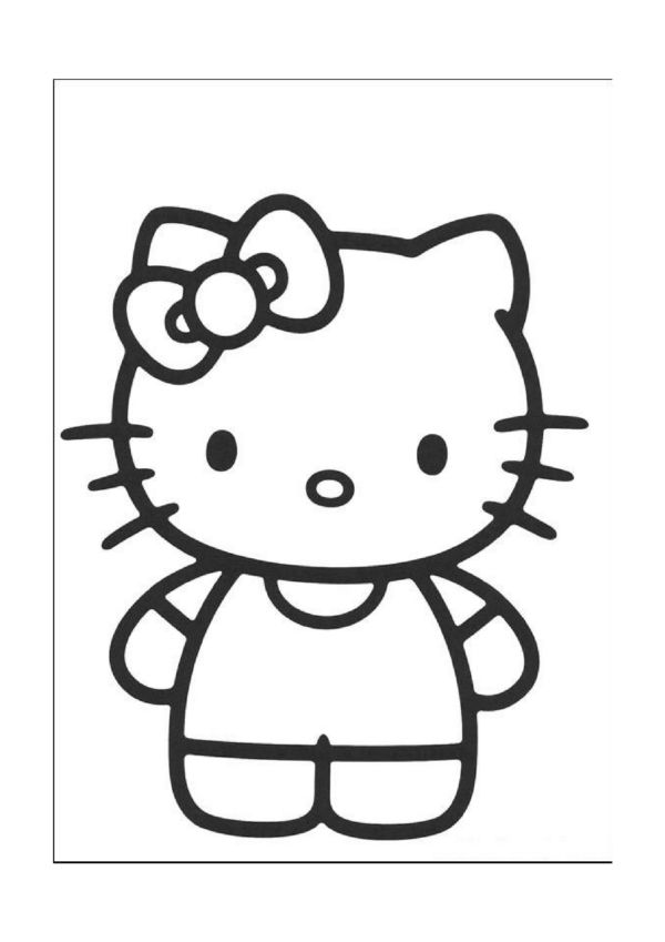 Coloriage Hello Kitty Cirque.Tegninger Til Farvelaegning Hello Kitty 3 Coloriage Hello