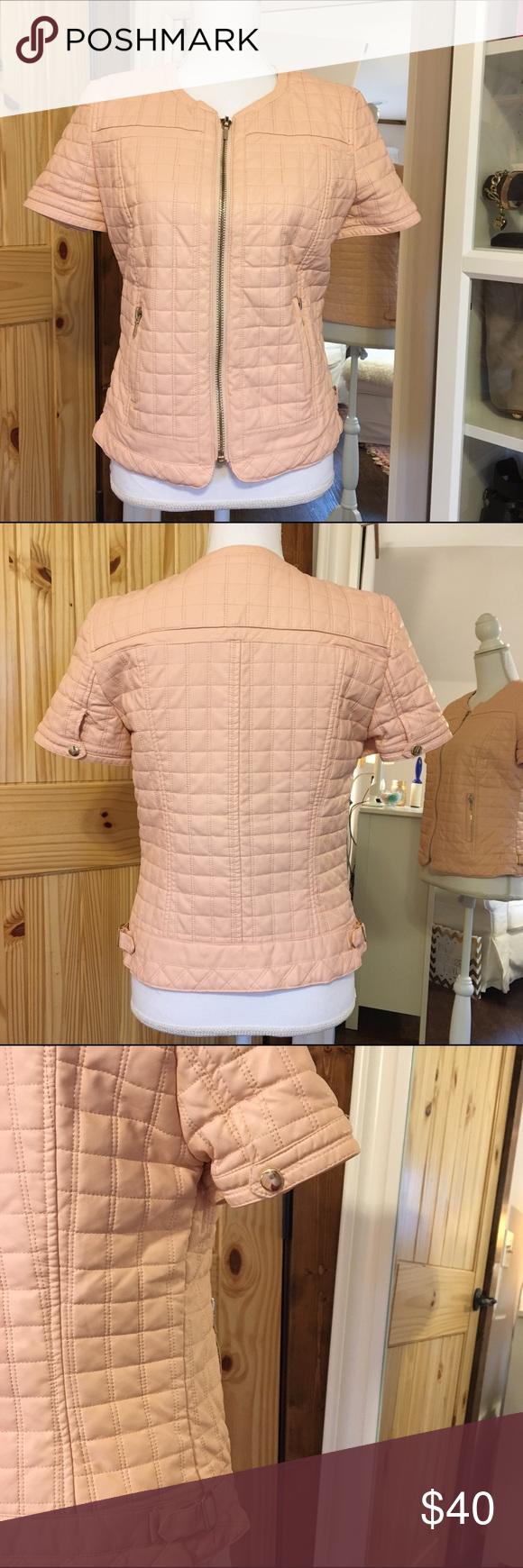 Zara Short Sleeve Faux Leather Jacket Zara Trafaluc