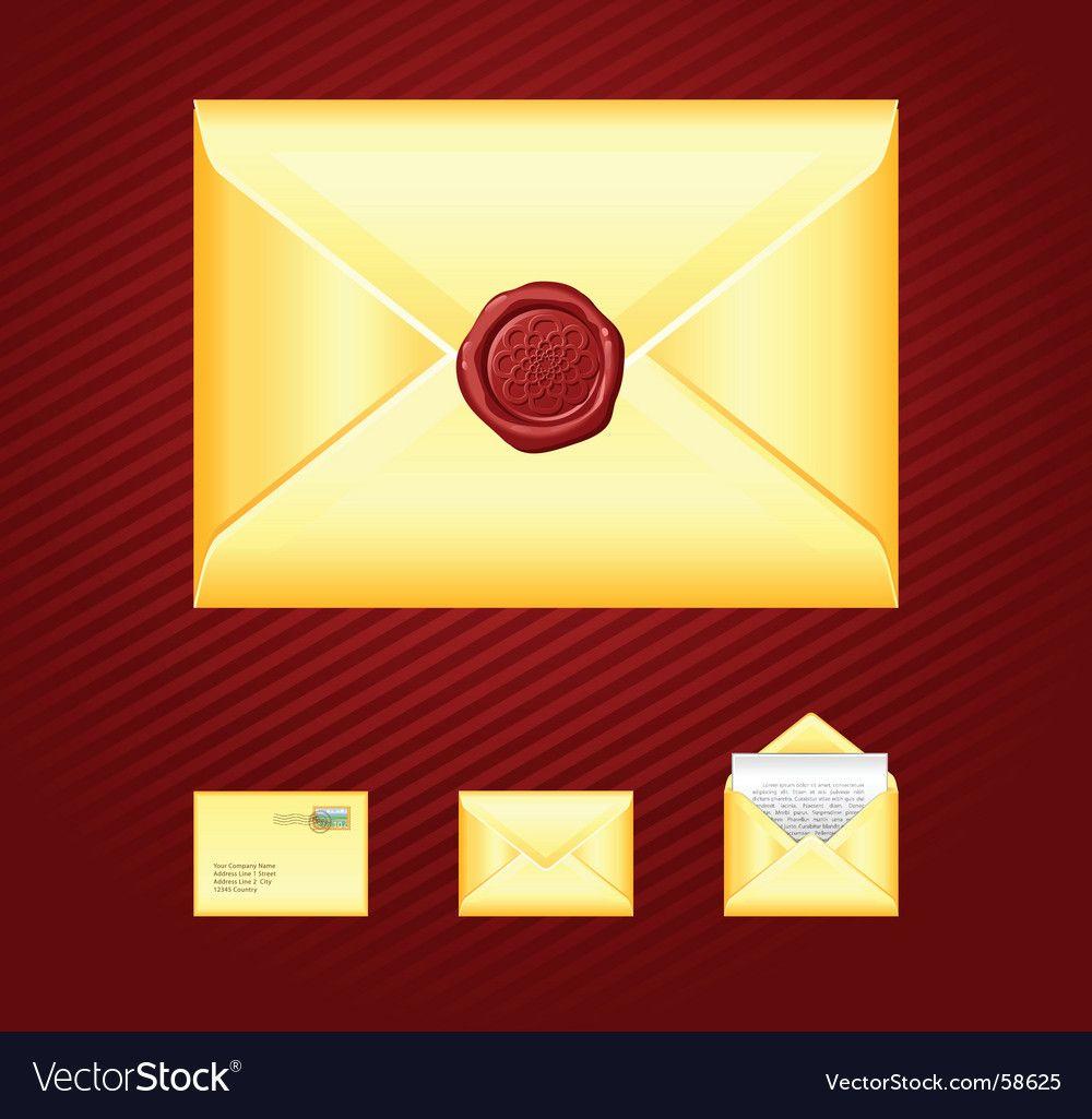 Mail sealing wax vector image on VectorStock Wax seals