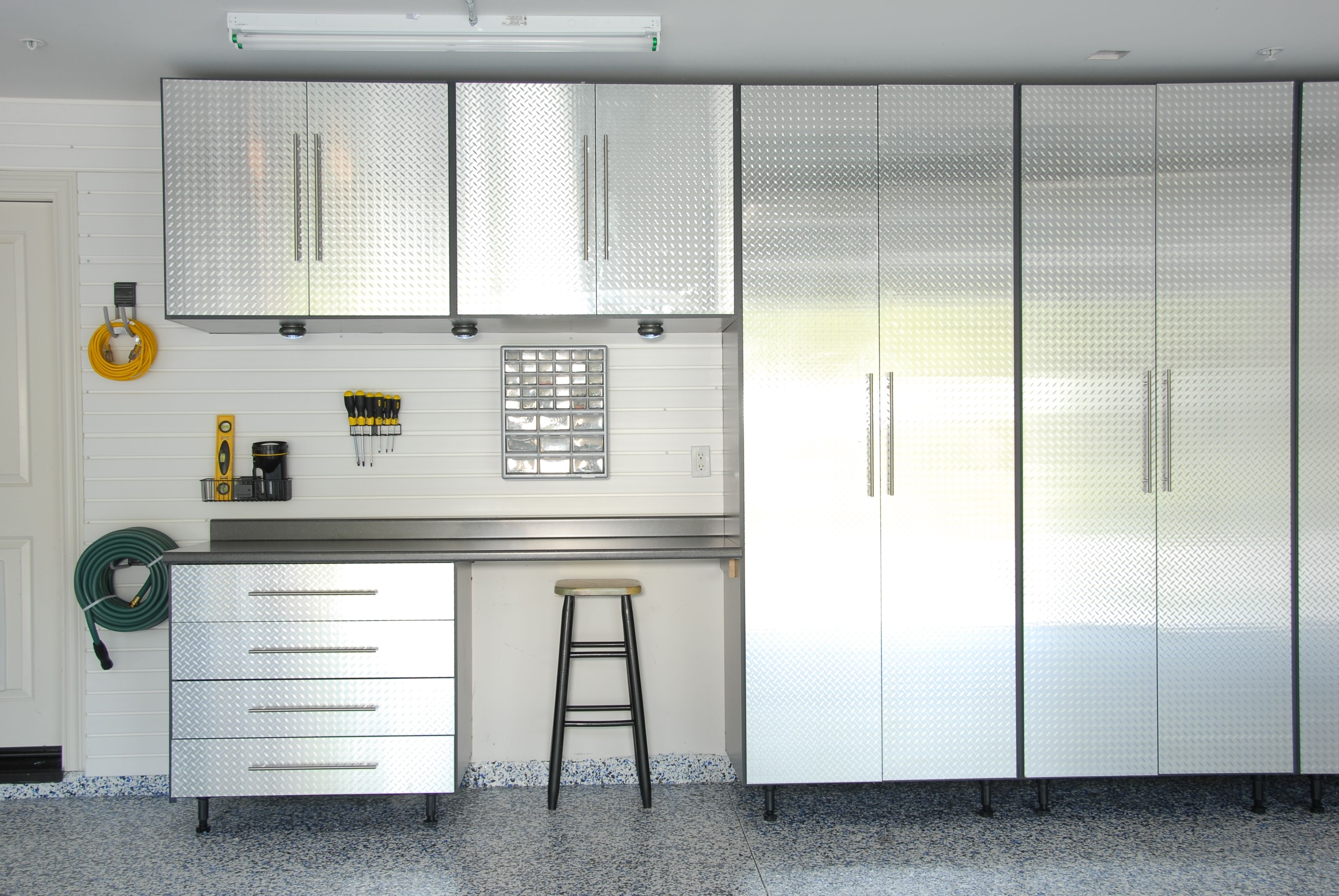garage built ikea cabinets for storage in diy image