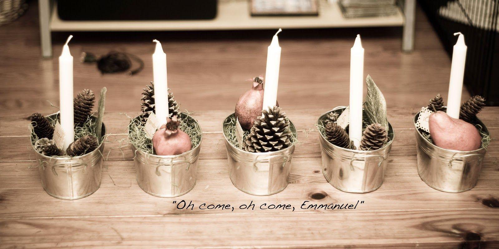 DIY Advent candles decor!