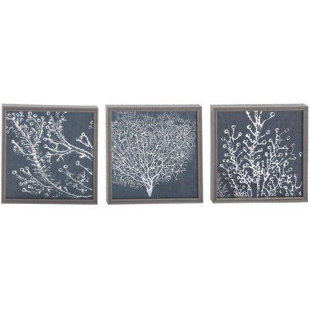 Decmode Polystone Framed Print, Set of 3, Multi Color, Multicolor ...