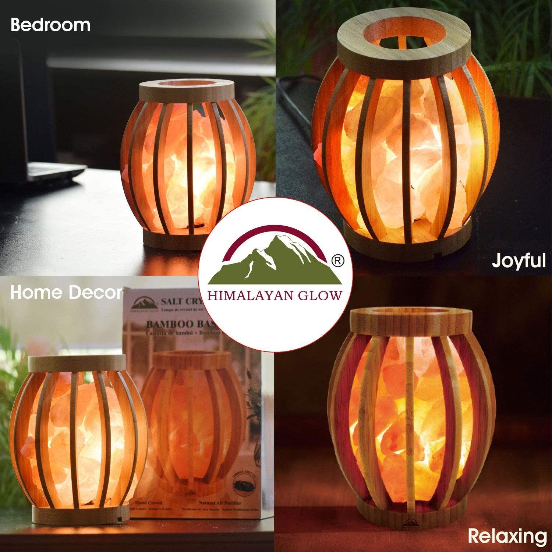 Himalayan Glow Original Bamboo Basket Salt Lamp In 2020 Bamboo Basket Salt Lamp Lamp