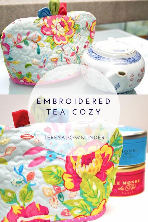 Embroidered fabric tea cozy tutorial