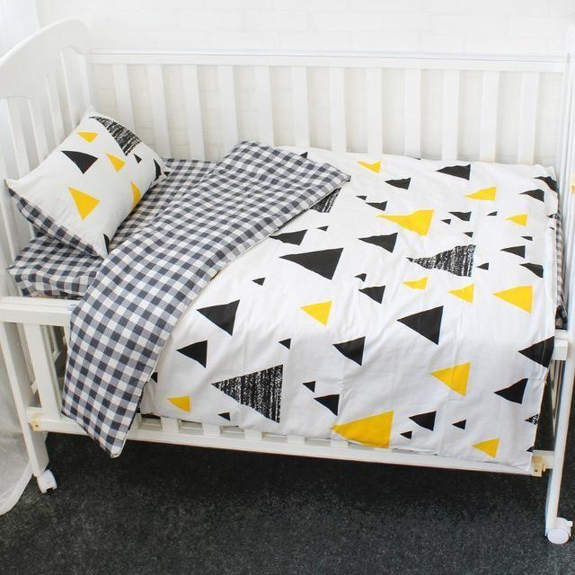 df33e637d Baby Bedding Set 5 Pcs Pure Cotton Crib Bed Linen For Children Include Quilt  Duvet Cover Pillow