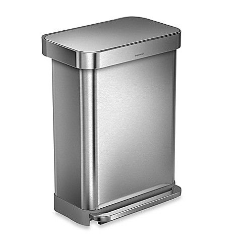 Best Simplehuman® 55 Liter Rectangular Step Trash Can With 400 x 300