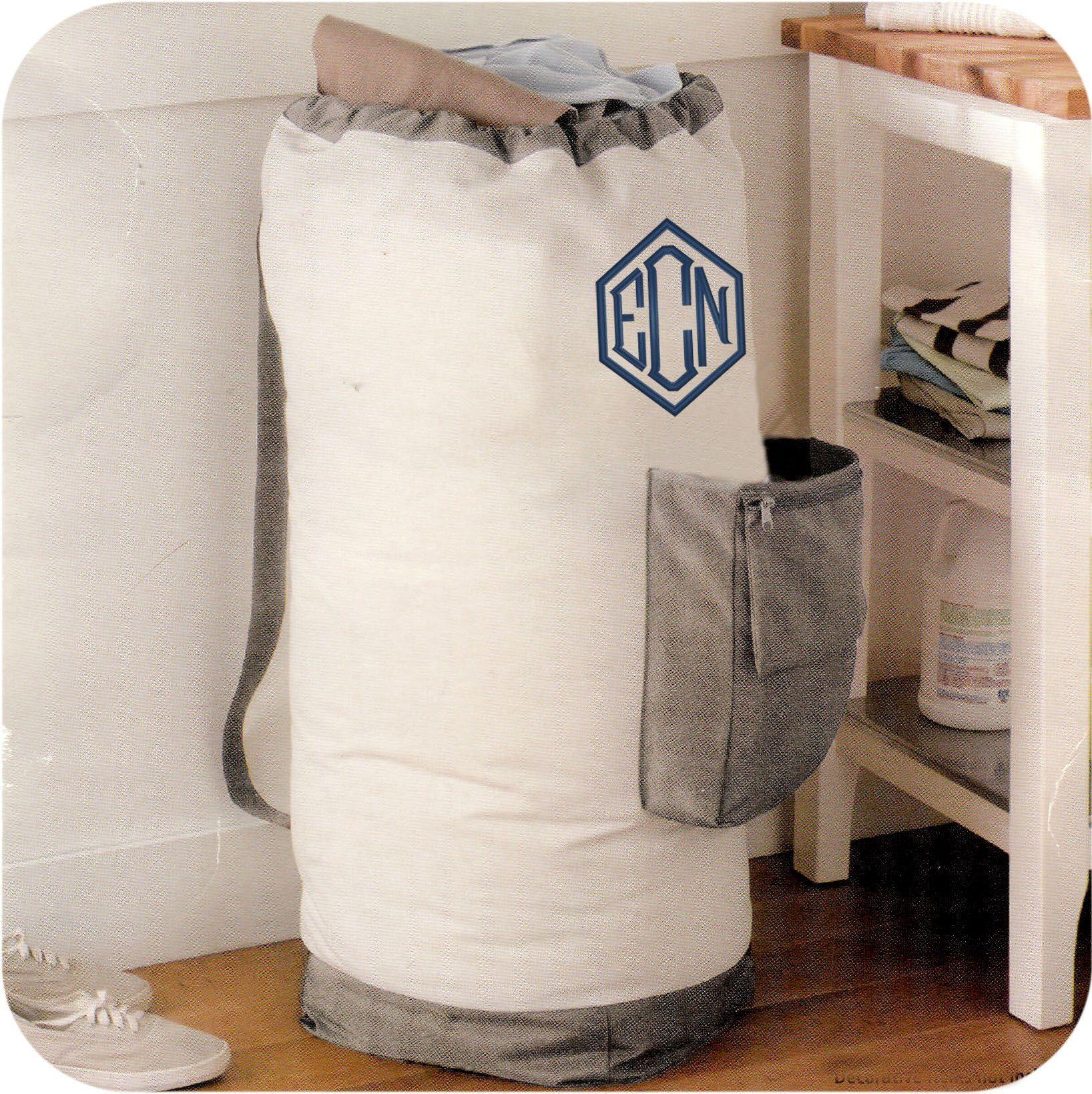 Monogrammed Laundry Bag Etsy Senior Gifts Monogrammed Laundry